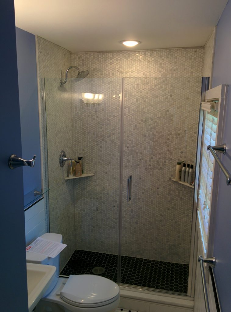 picture of bathroom with Recessed LED Light